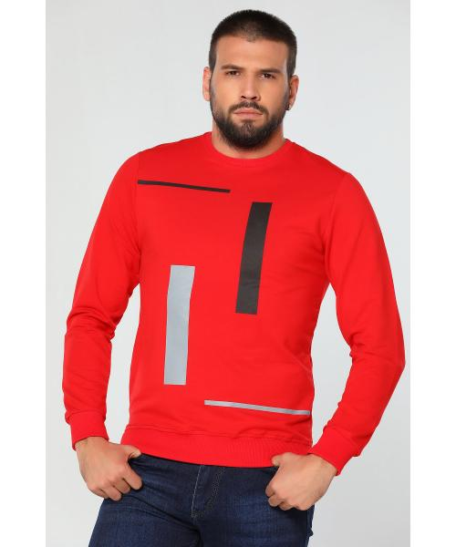 Men's Crew Neck Printed Sweatshirt
