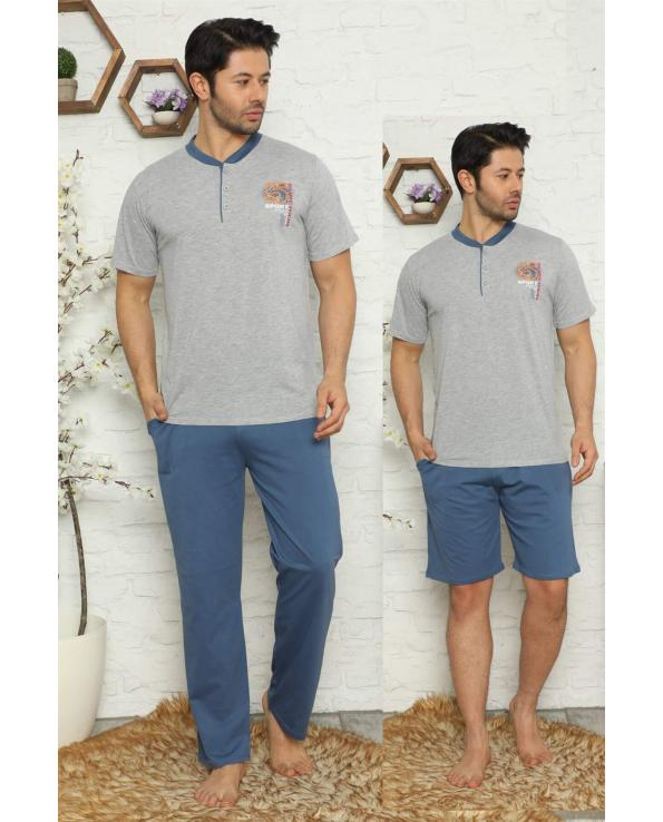 Men's Pocket Cotton Pajama Set