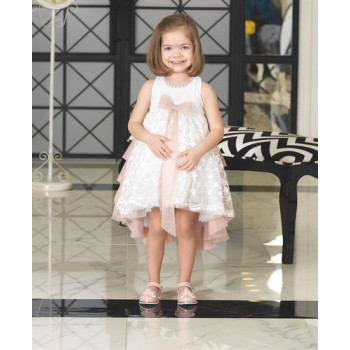 Girl's Back Detail Evening Dress- Ages 1-5