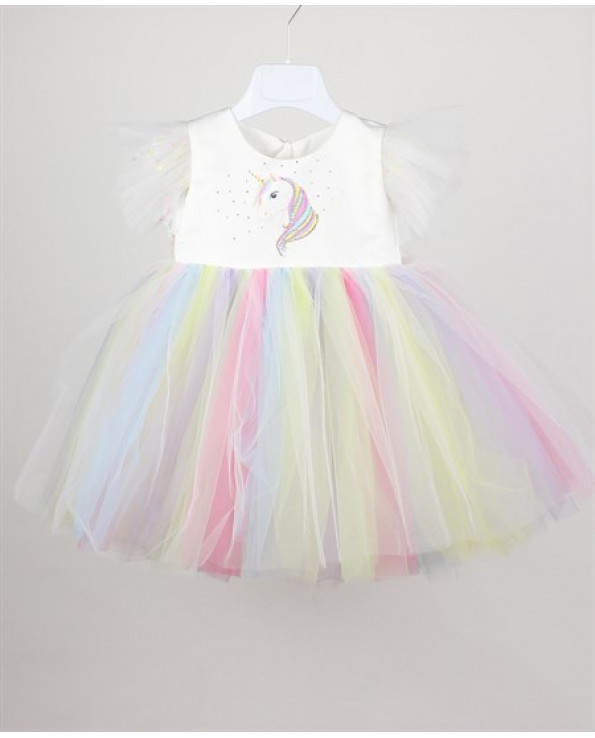 Girl's Tulle Multi-color Dress- Ages 1-5