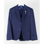 Ages 1-15 Boy's Sport Cut Formal Suit With Waistcoat