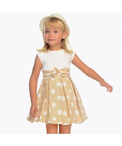 Ages 2-9 Girl's Polka-Dot Short Dress