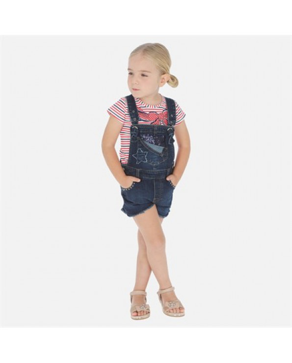 Girl's Denim Shorts Overall- Ages 3-9