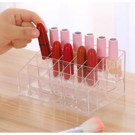 24-Compartments Transparent Make-up Organizer