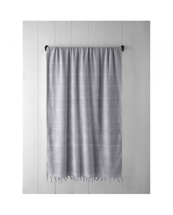 Plain Light Grey Towel Pestemal 40x95 cm