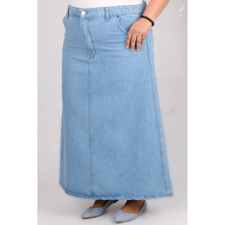 Women's Oversize Baby Blue Long Denim Skirt