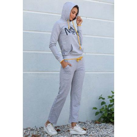 Front Printed Grey Training Suit