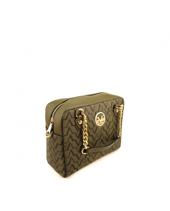 Women's Patterned Khaki Handbag