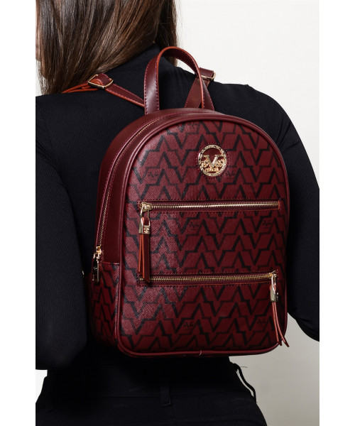Women's Claret Red Backpack