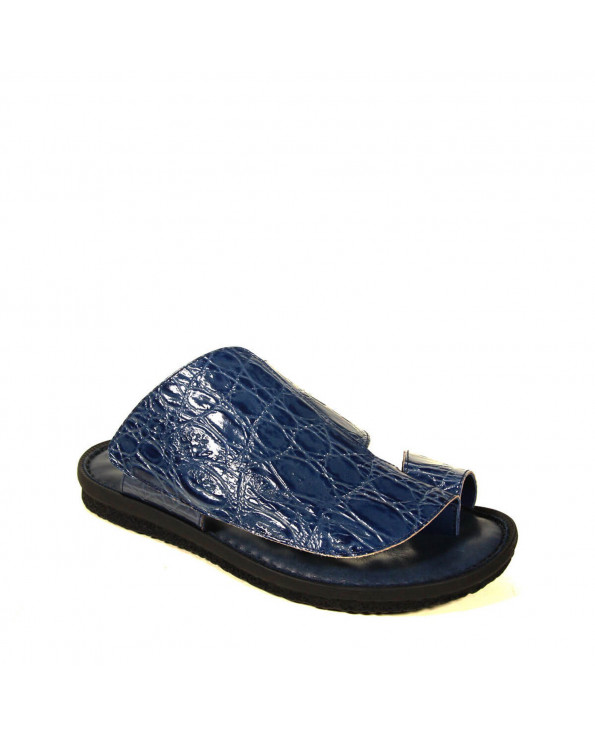Men's Printed Leather Slippers