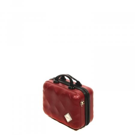 Claret Red Square Cabin Luggage