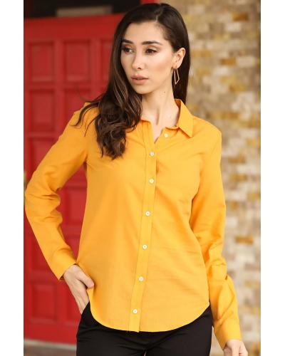 Women's Button Mustard Shirt