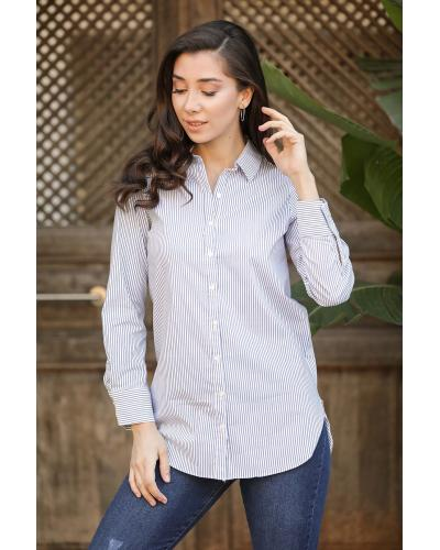 Women's Striped Button Shirt