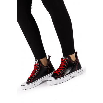 Women's Black - Red Boots