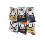 Boy's Patterned Cotton Socks- 6 Pairs