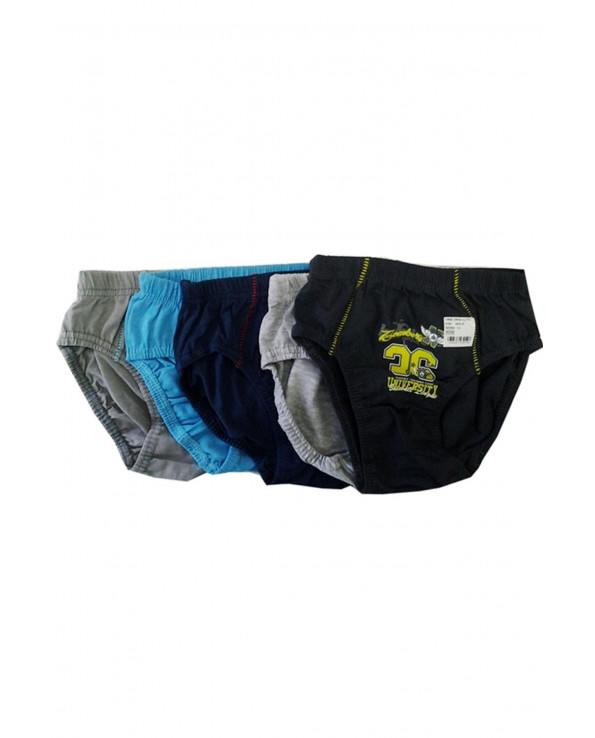 Boy's Patterned Multi-color Panty- 5 Pieces