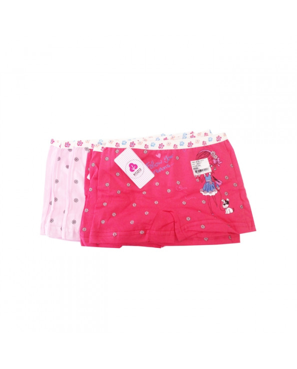 Girl's Patterned Boxer- 10 Pieces