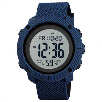 Men's Round Case Digital Watch