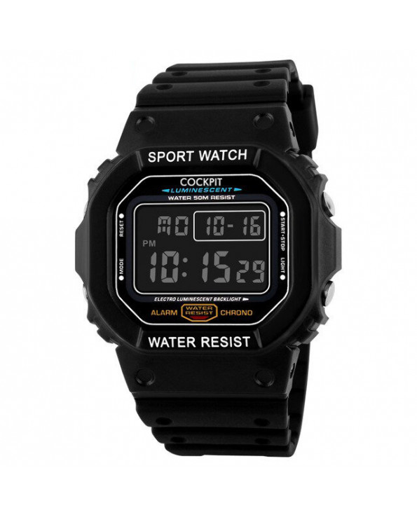 Men's Black Digital Watch