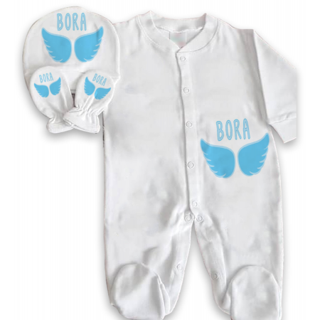 Baby's Personalized White Romper Set