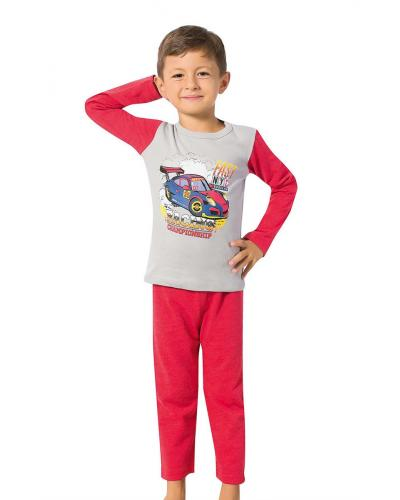 Boy's Long Sleeves Red Pajama Set