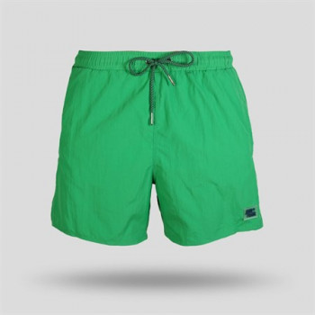 Men's Plain Dark Green Swim Trunks