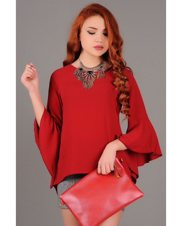 Vavin LIGHT CHIFFON BLOUSE - Maroon