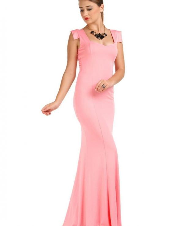 Vavin EVENING GOWN WITH SIDE SLIT - Pink