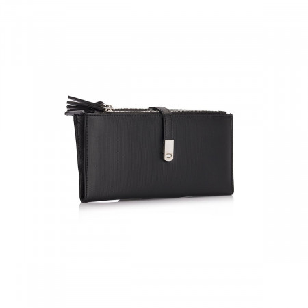 Women's Zipped Black Wallet