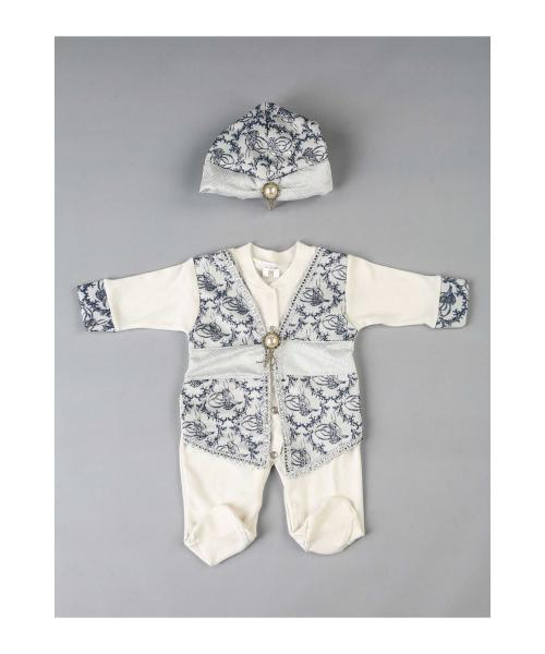 Baby Boy's Prince Traditional White Overall
