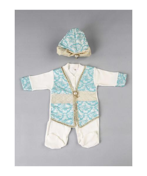 Baby Boy's Traditional Overall Set