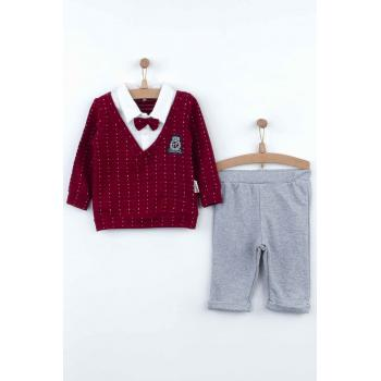 Baby Boy's Claret Red Seasonal Outfit Set - 2 Pieces
