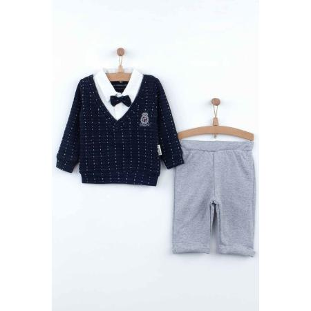 Baby Boy's Navy Blue Seasonal Outfit Set - 2 Pieces