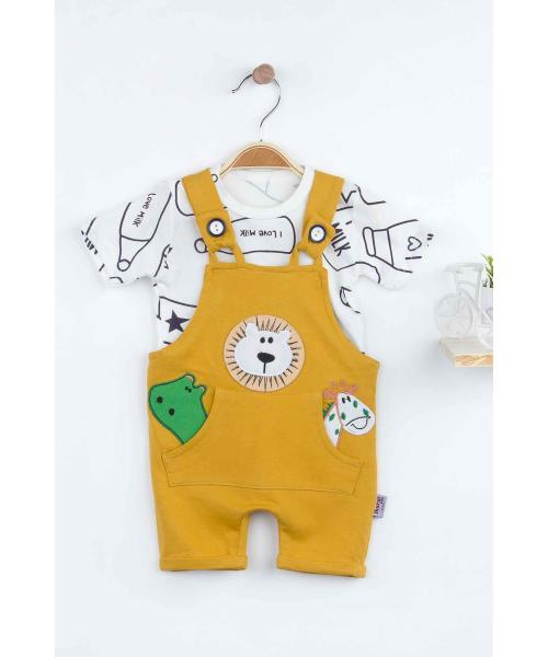Baby Boy's Summer Yellow Romper & T-shirt Set