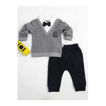 Baby Boy's Navy Blue - Grey Outfit (2 Pieces)