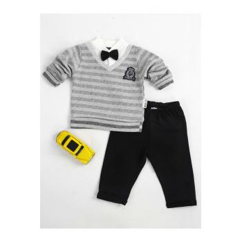 Baby Boy's Grey - Black Outfit Set (2 Pieces)