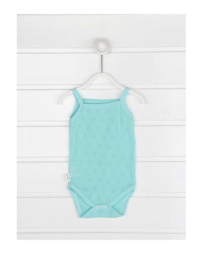 Baby Girl's Strappy Green Snapsuit