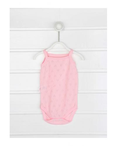 Baby Girl's Strappy Pink Snapsuit
