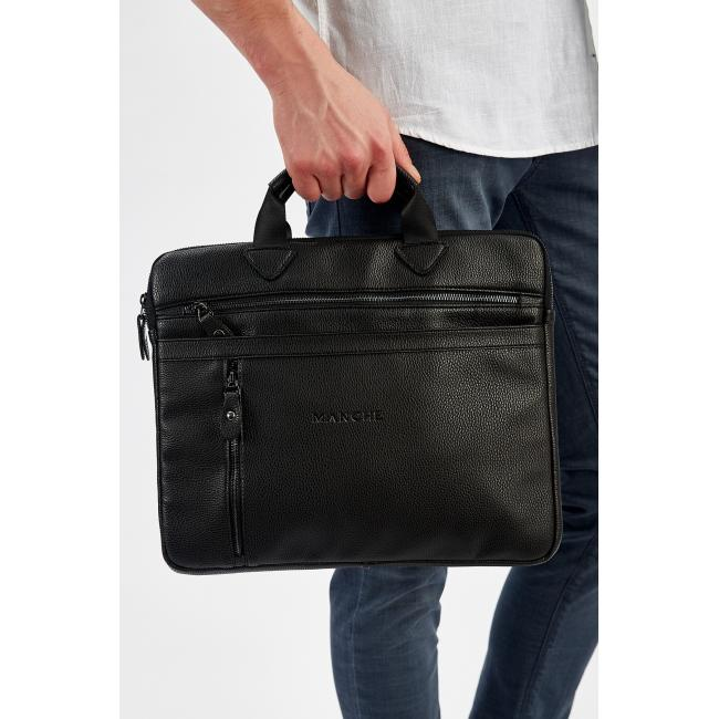 Men's Plain Black Bag