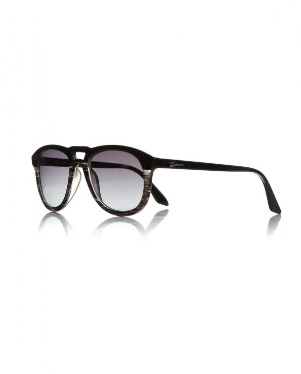 Unisex Black Plastic Sunglasses