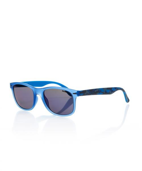 Unisex Blue Plastic Sunglasses
