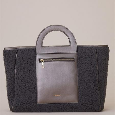 Women's Zipper Grey Bag