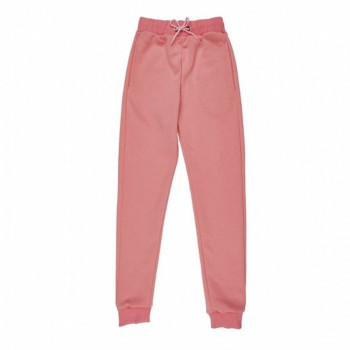 Girl's Elastic Waist Pink Sweatpants