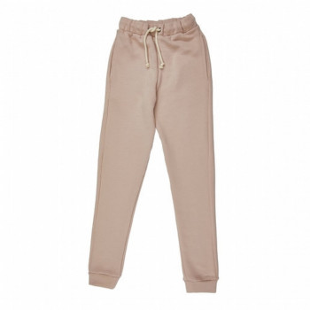 Girl's Pocket Beige Sweatpants