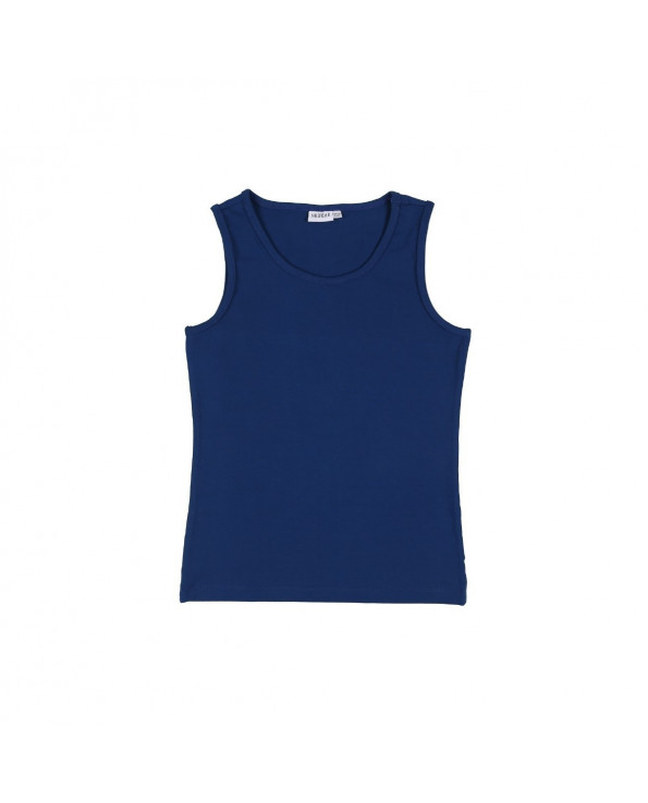 Boy's Dark Blue Sleeveless T-shirt