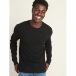 Men's Long Sleeves Black T-shirt