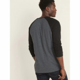 Men's Long Sleeves Dark Grey Melange T-shirt
