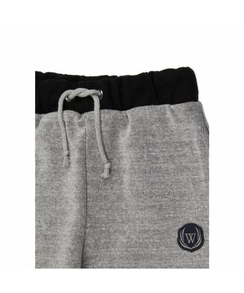 Boy's Pocket & Embroidery Detail Grey Melange Pajama Pants