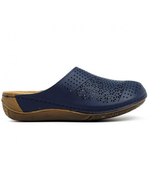 Women's Navy Blue Casual Slippers