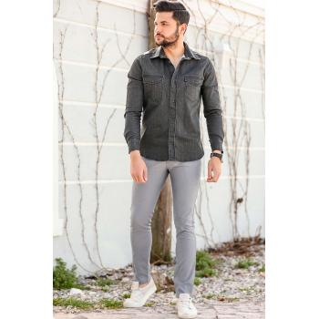 Men's Patterned Grey Pants